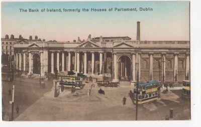 The Bank Of Ireland Dublin Vintage Postcard 812b