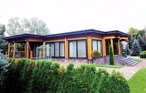 MODERN LOG HOUSE KIT #LH-240 ECO FRIENDLY WOOD PREFAB DIY BUILDING CABIN HOME
