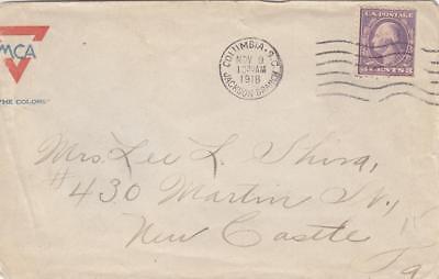 1918, AEF: YMCA Cover, Columbia, SC (M1595)
