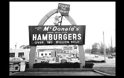 Vintage McDonald's Restaurant PHOTO Sign Burger Joint 1960s Drive-In Diner