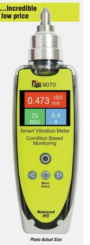 TPI 9070 SMART VIBRATION METER vibration monitoring and analysis tool AUTHORIZED