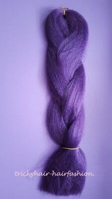 Haarverlängerung Super Braid Kunsthaar Dread lila #52