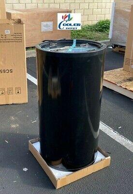 New Refrigerator Cooler Glass Top Load Round Beverage Merchandiser 18 X 35