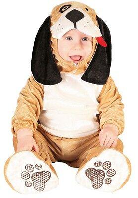 Baby Mädchen Jungen Braun Welpe Halloween Weihnachtskostüm Outfit ()