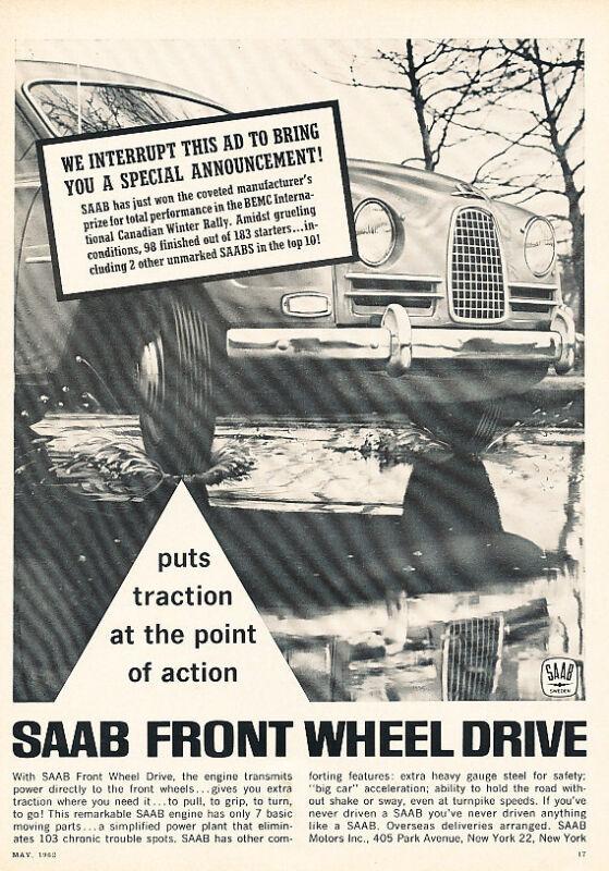 1962 SAAB 93 - Classic Vintage Advertisement Ad H26