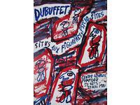JEAN DUBUFFET - original vintage exhibition poster - c1981 (Mourlot/Centre Pompidu, Paris)