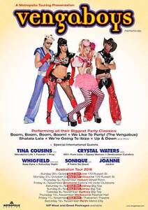 2 X VENGABOYS Sydney Concert tickets - Sunday 6th November 2016 Dickson North Canberra Preview