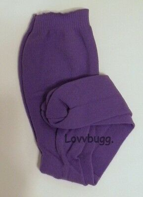 "Lovvbugg Purple Tights for 18"" American Girl Doll Clothes Accessory"