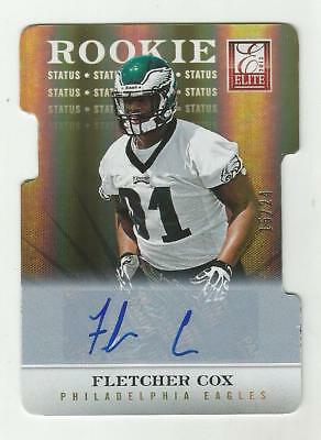 Fletcher Cox 2012 ELITE NFL STATUS ROOKIE AUTOGRAPH CARD Eagles SP SIGNED -