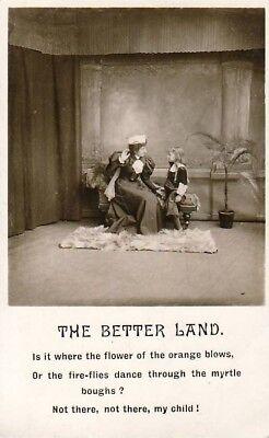 K06.Vintage Bamforth Postcard.The Better Land.
