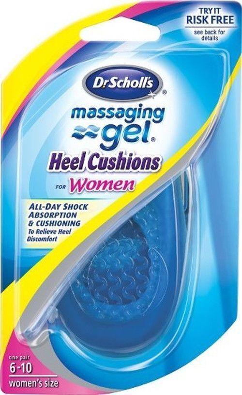 как выглядит Dr. Scholls women Massaging Gel Heel Cushions Insoles - 1 pair: size 6-10 фото
