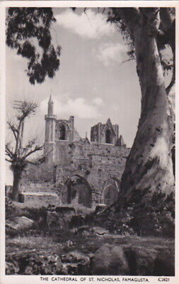 CYPRUS POSTCARD FAMAGUSTA THE CATHEDRAL OF SAINT NICHOLAS 1950 ANDREAS SOTERIOU