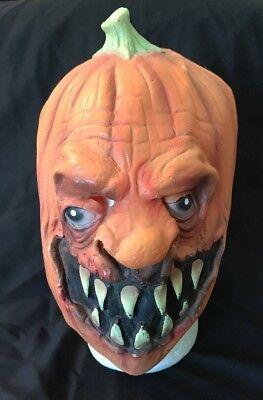 Remake of 1983 Distortions Unlimited Pumpkin Mask - Rubber Pumpkin Head Mask