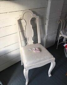 Shabby chic cream chair