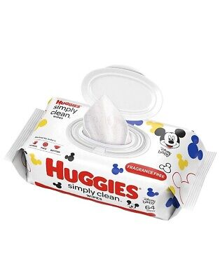 Huggies Simply Clean Baby Wipes 64 ct, Fragrance Free,BULK DISCOUNT