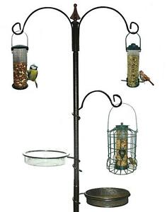 WILD BIRD FEEDING STATION GARDEN OUTDOOR HANGING FEEDER WATER BATH SEED TRAY