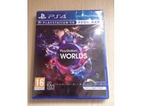 **SEALED** PLAYSTATION VR WORLDS PS4 GAME BRAND NEW FOR PLAYSTATION 4 PSVR
