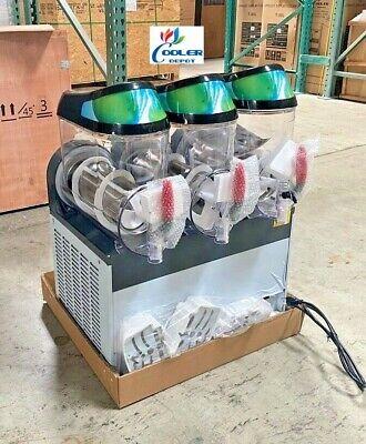 New 3 Bowl 10l Slushie Machine Slush Puppie Icee Frozen Cocktail Maker Tripple