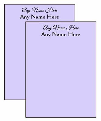 2-pack Lavender Personalized Notepads 14-page 4.25 X 5.5 In. Scratch Pad Memo