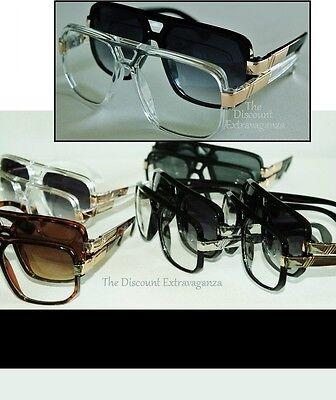 Slim Sleek Evidence Inspired Gazelle Style Sun Glasses _ Fancy Arm Metal (Fancy Accents)