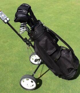 """Golf clubs RH Men's Custom Built 1"""" longer suit 6ft 1 + golfer"""