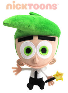 Authentic-New-8-Cosmo-Fairly-OddParents-Plush-Nick-Toons-Jazwares-Stuffed