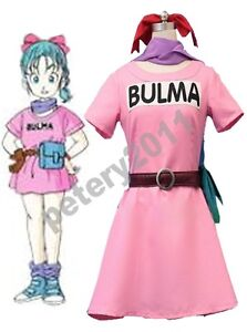 Custom-made Dragonball Z Bulma Cosplay Costume