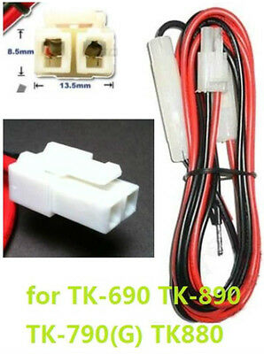 New 1.5 Meter Kenwood Radio Power Cable Tk-690 Tk-890 Tk-790g Tk880 Tk868g Eg.
