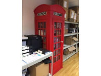 K2 english red phone booth. real size.