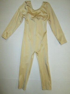 NEW Girls Unitard Size 4 6 10 12 SC IC MC LC Nude Gold Costume Leotard Dance