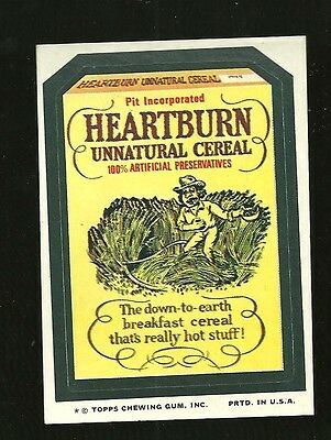 1970's Wacky Packages Heartburn Cereal sticker Packs vintage for sale  Costa Mesa