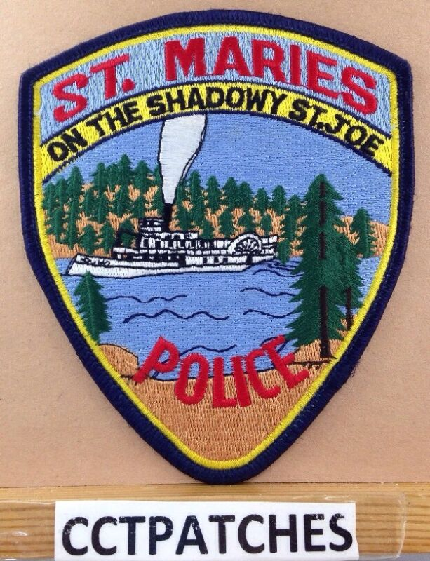 ST. MARIES, IDAHO POLICE STRAIGHT SMOKE STACK SHOULDER PATCH ID