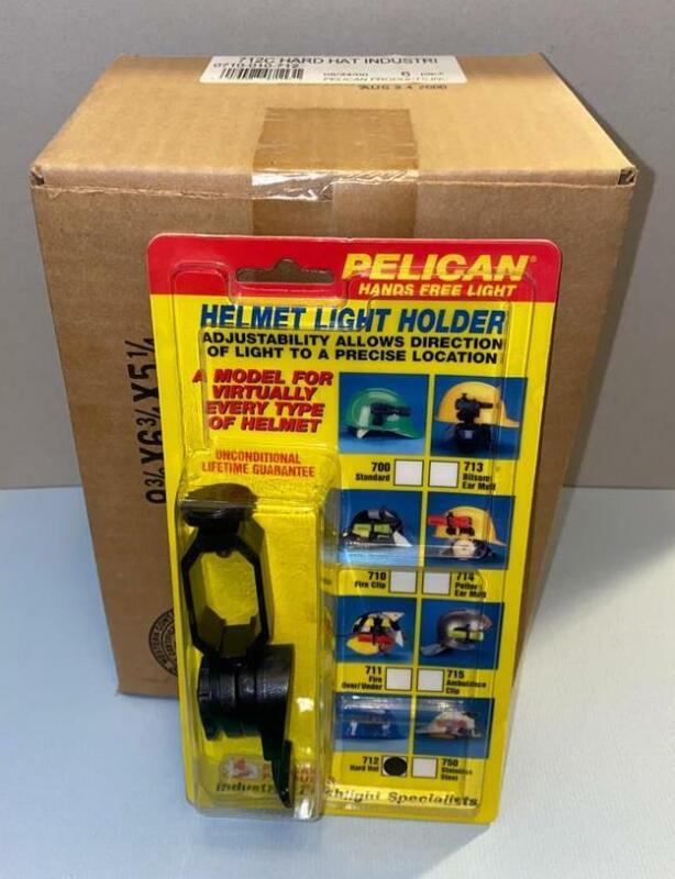 NEW Sealed Box of Six Pelican Helmet Light Holder 712 Hard Hat Fits Stealthlite