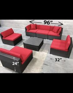 Patio set sectional