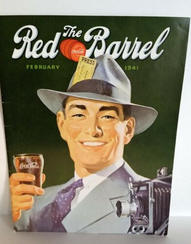 RARE! Feb. 1941 The Red Barrel, Drink Coca Cola Magazine, Handsome  Press Man