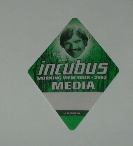 UNUSED OTTO SATIN CONCERT MEDIA BACKSTAGE PASS INCUBUS MORNING VIEW TOUR 2002