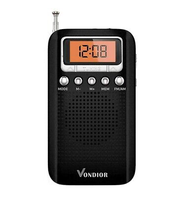 Portable Digital Radio with Alarm Clock - Best Reception and Longest Lasting. AM