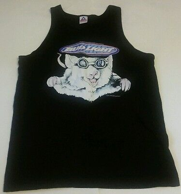 Vintage 90s BUD LIGHT Lab Mouse Rat Mice t-shirt TANK TOP sleeveless Sz Large