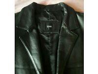 Linea leather blazer