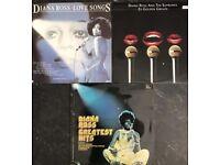 3 x vintage Diana Ross vinyl LP's