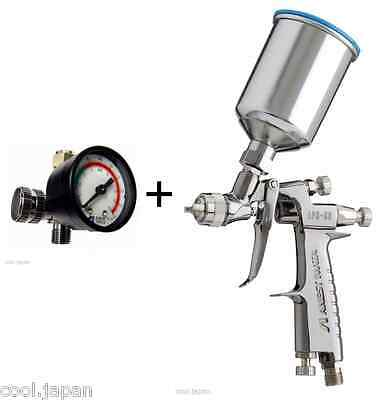 ANEST IWATA Air Regulator + LPH80 062G Mini Gravity Spray Gun with 150ml Cup NEW