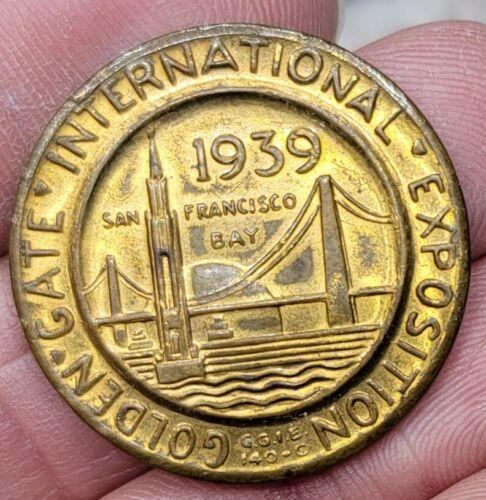 Oakland Ca. 1939 Golden Gate International Exposition San Francisco Gold Plated