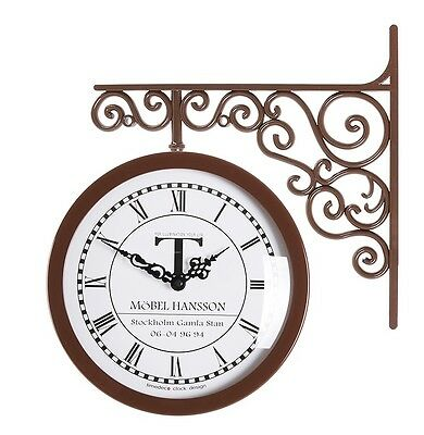 antique art design double sided wall clock station clock home decor 6064br