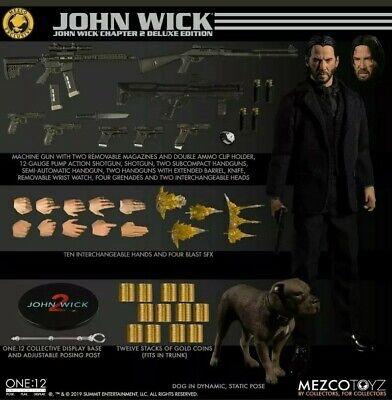 One: 12 Mezco Exclusive JOHN WICK: CHAPTER 2 Deluxe Edition Figure