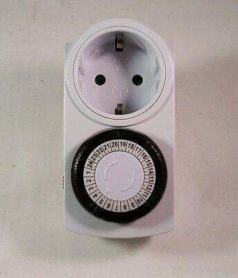Analoge 24h Zeitschaltuhr Analog Kinderschutz Steckdose Uhr Schutz