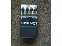 Metal core effects pedal