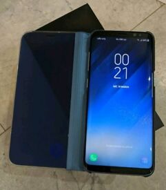 unlocked samsung galaxy S8 64gb Orchid blue with 2 cases