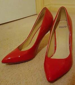 Novo Brand High Heel Stiletto Shoes Patent Leather Look Red 9 Prospect Prospect Area Preview