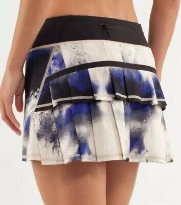 MINT🍀Lululemon 6 Run Pace Setter skirt Milky Way Multiprint Black/Pigment Blue