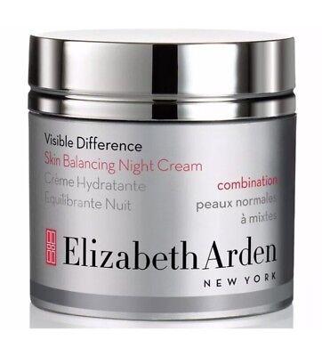 Elizabeth Arden Visible Difference Skin Balancing Night Cream 1 7 Oz Tester Box